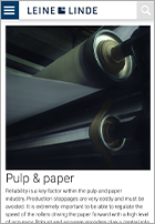 Paper and Pulp - Leine Linde application page