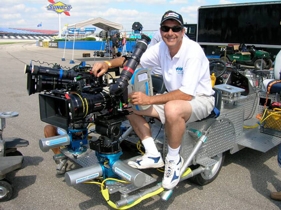Figure 1: PERFECT HORIZON Founder and President David Grober on the set of Talladega Nights