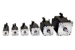 different sizes of servo motors